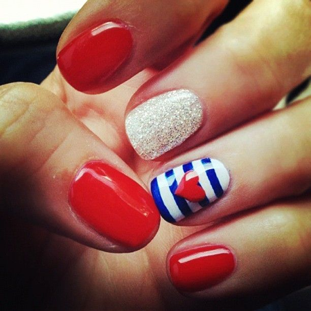 Red, White, and Blue. Adore the sparkle!