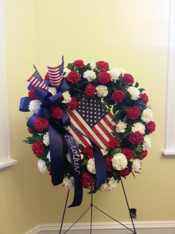 Patriotic Easel Funerals By Flowers On Main Funeral