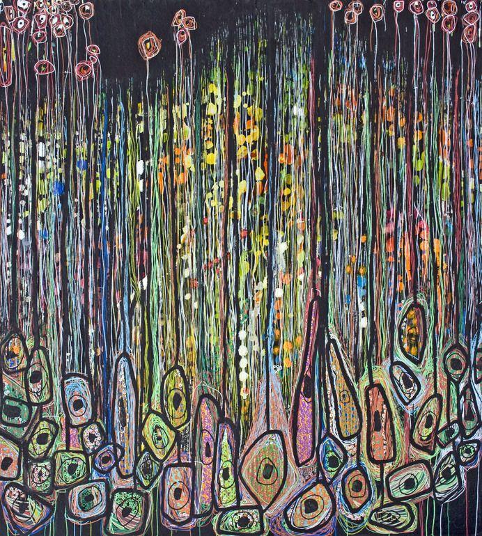 Saatchi Online Artist: Virginie Gallois; Ink, 2012, Mixed Media Sous les grands arbres #1