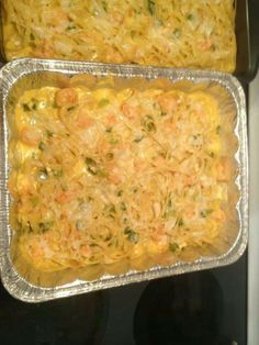 Shrimp and Velveeta Fettucine