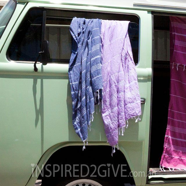 Kombi with the best turkish towels from Inspired2Give