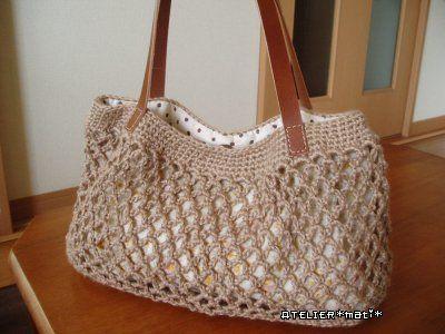 Simple Net Crochet Bag - Free Crochet Pattern -Atelier *mati*-