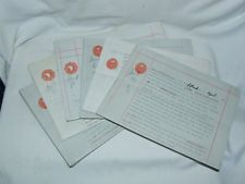8 x Land Grazing Agreements legal documents Cottingham Hull Orchard Park 1936-40
