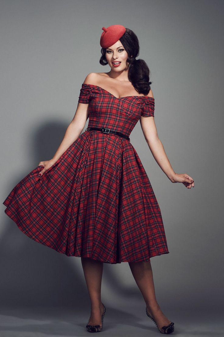 Fatale Red Tartan Prom Dress | The Pretty Dress Company