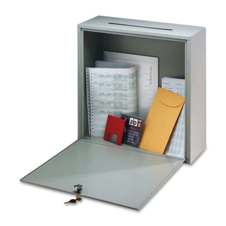 "Mailbox Dropbox Steel 10""x12"" Durable Wall Mount Letters Lockable 2 Keys Office #BuddyProducts"