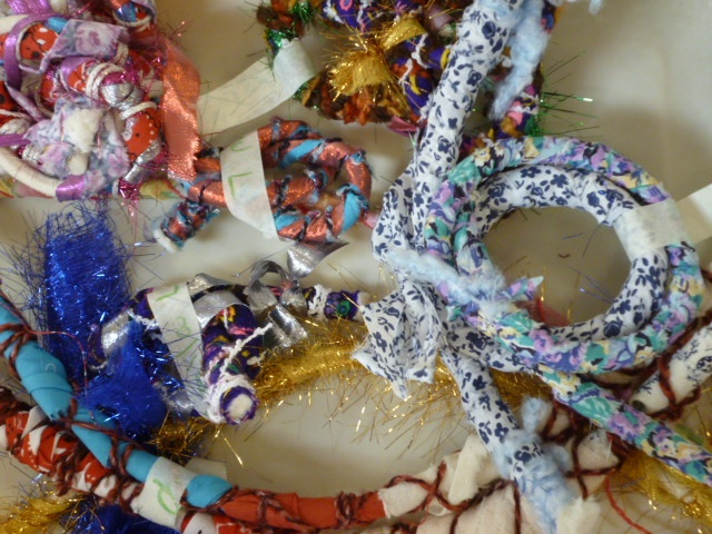 Fibre artwork created during a 2012 mixed media residency with Ann Haessel.
