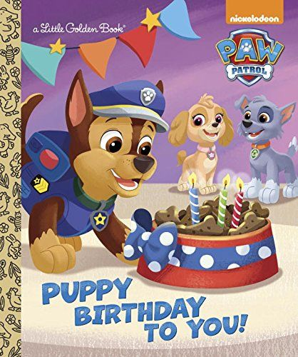 ♥ paw patrol birthday book