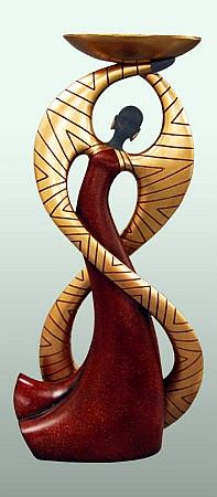 Infinity Candleholder - Essence of Africa Candleholders - The Black Art Depot