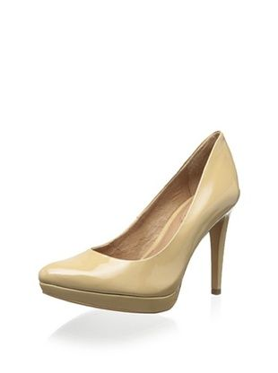 55% OFF Corso Como Women's Halle Platform Pointed Toe Pump (Beige Patent)