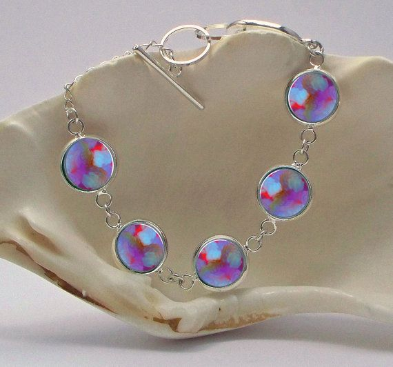 Abstract Art Bracelet 1/2 inch Diameter Image by phenergiart, $25.00