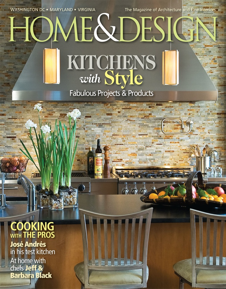 Cover Of Home And Design Magazine Featuring A Palm Beach Getaway By Brown Davis Interiors
