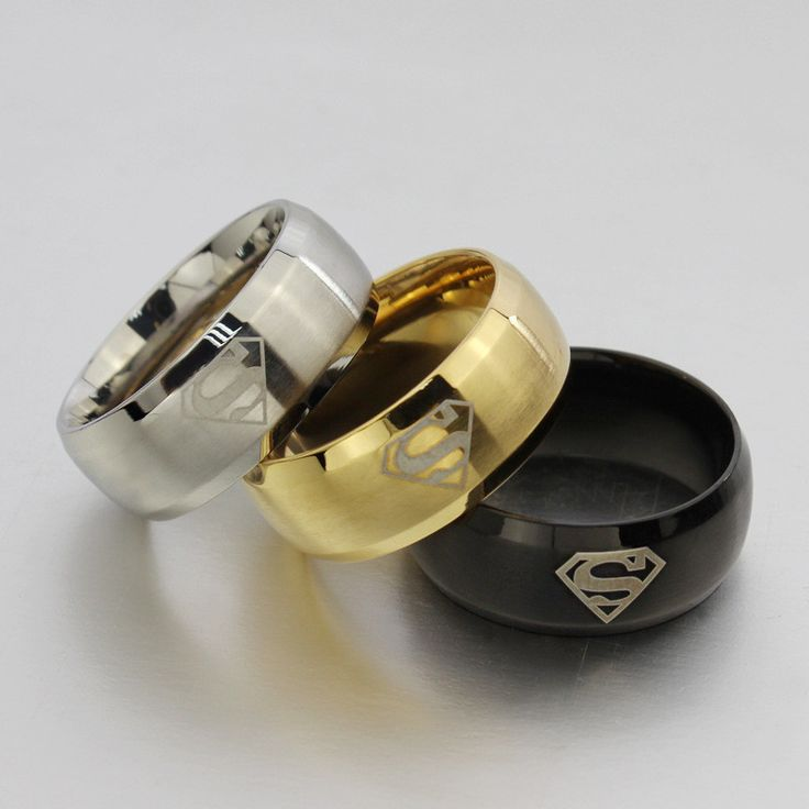 Superman Titanium Ring