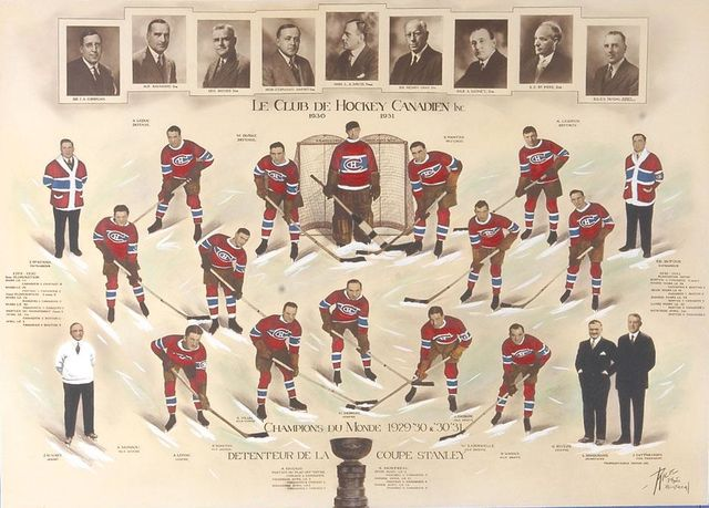 Montreal Canadiens - Stanley Cup Champions - 1931