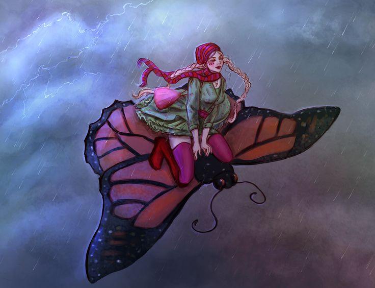 Alyssa riding a monarch