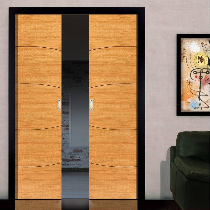 Elements Sol Oak Double Pocket Doors   Prefinished