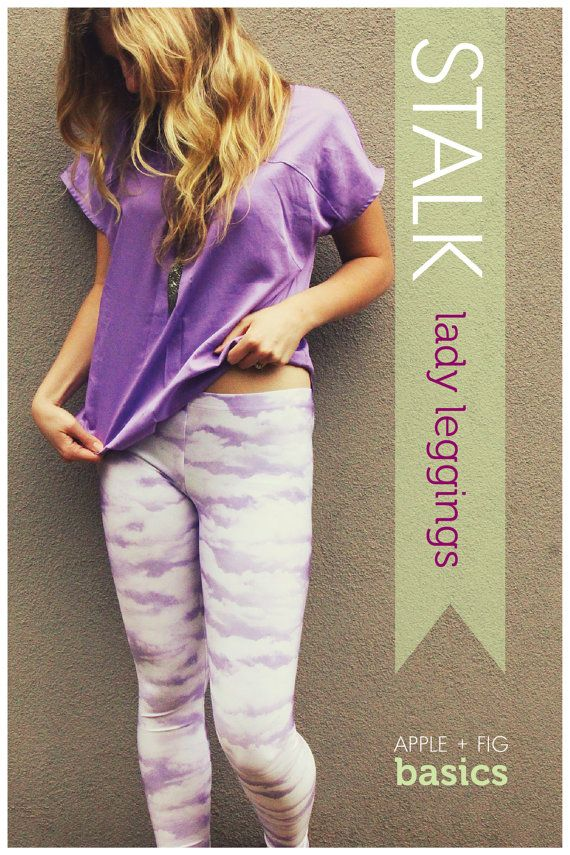 NOTE – This listing is for a PDF sewing pattern/tutorial only. The STALK Leggings pictured are only a sample. The PDF files contains both the