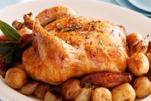 Traditional French roast chicken main image