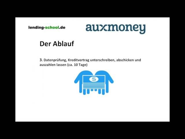 Auxmoney Auszahlungsdauer