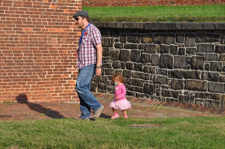 VP-Operations Paul and daughter exploring Fort McHenry in Baltimore, Maryland.
