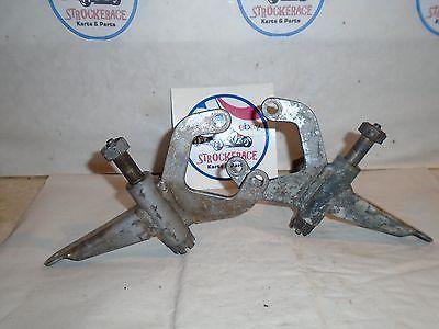 VINTAGE RACING GO KART MARGAY FRONT WHEEL BRAKE SPINDLES CART PART X2