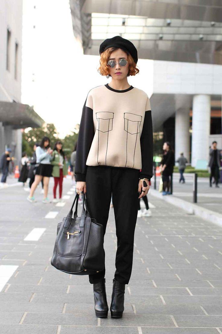 * South Korea Street Style - Seoul Fashion Week