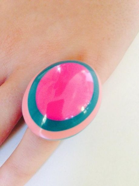 Ruby olive la ramla Gobstopper ring size small - Lolalolalola