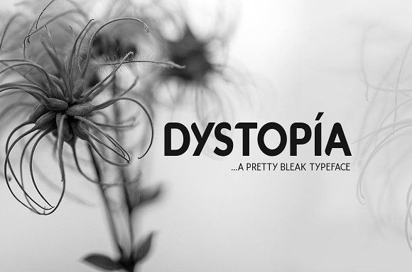 Dystopia Typeface by DesignSomething on @creativemarket