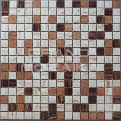 Стеклянная мозаика серия Golden, цвет: белый