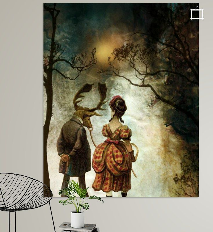 Neu in meiner Galerie bei OhMyPrints: VINTAGE COUPLE BY ABSTRACT AUTUMN II #kunst #vintage #illustration #malerei #collage #herbst #winter #piaschneider #ohmyprints #geschenkidee #kunstdrucke
