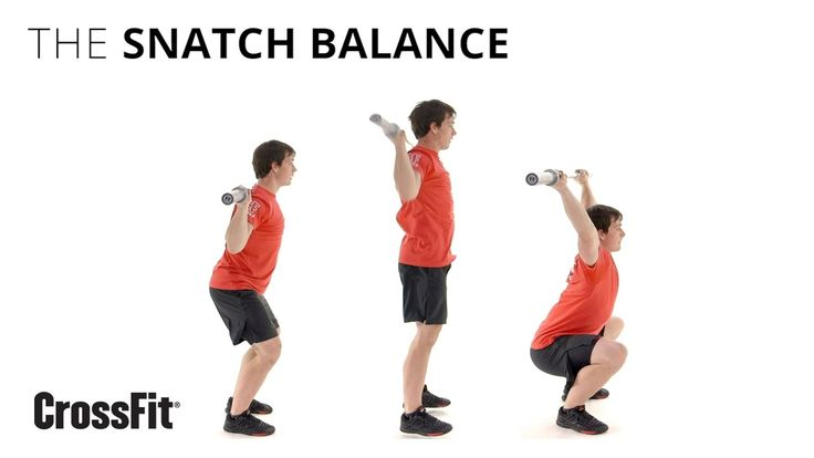 The Snatch Balance - remember small dip and then jump squat with legs down and drive bar up.