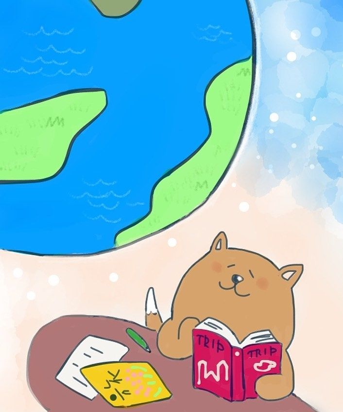 Planning For A Next Adventure Earth Adventure Trip Journey Travel Destination Dog Dogsofinstagram Shibainu Shiba Shiba Art Illustration Instaar
