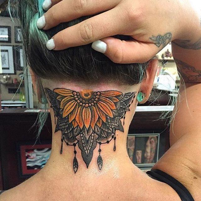 Shaved Nape & Stunning Tattoo  Thanks @penelope_kay  #UCFeed #BuzzCutFeed #Undercut #Undercuts #ShavedNape #NapeShave #UndercutNation #Tattoo  #NeckTattoo #Tattoos