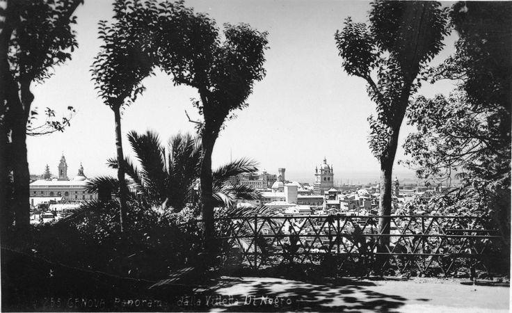Panorama di Genova da Villetta Di Negro (Photo: Studio Agosto, anni '30)