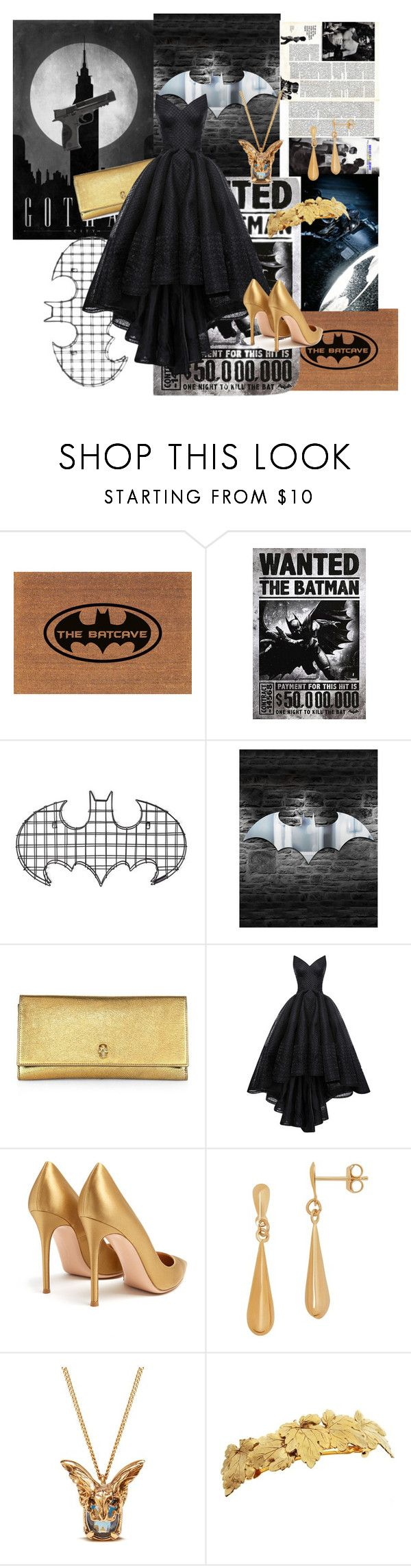 """""""batwomen"""" by cj-rodriguez ❤ liked on Polyvore featuring Warner Bros., ADAM, Alexander McQueen, Zac Posen, Gianvito Rossi, Lord & Taylor, Mulberry, L. Erickson and Smith & Wesson"""