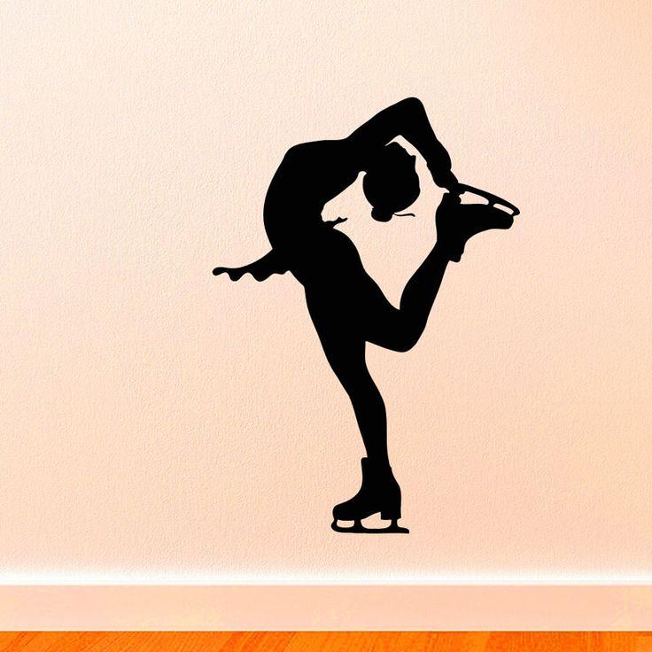 Cheap Ice Sport Silhouette Home Decor Ice Skater Stickers Murali In Vinile Rimovibile Impermeabile Wall Stickers Camera Dei Bambini di Arte Murales, Compro Qualità Adesivi murali direttamente da fornitori della Cina:  Ice-Sport Silhouette Home Decor Ice Skater Stickers Murali  tipo: RimovibileDecalcomania Della paretefascia di 00% nuov