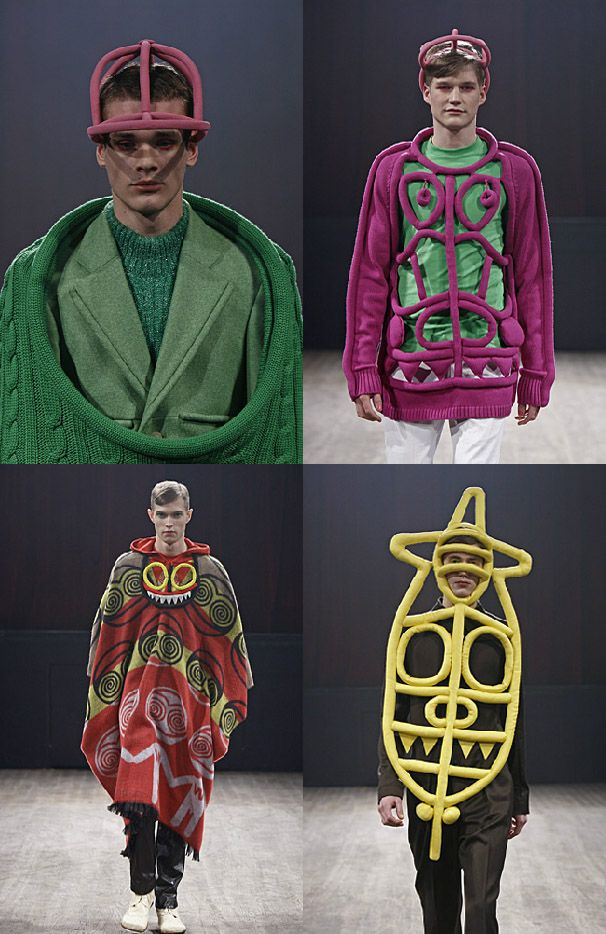 Walter Van Beirendonck FW 2009: Glow cut out sweater is completely innovative