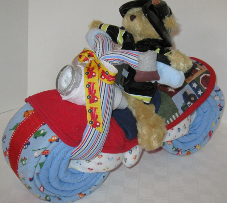 Motorcycle Diaper Cake Images