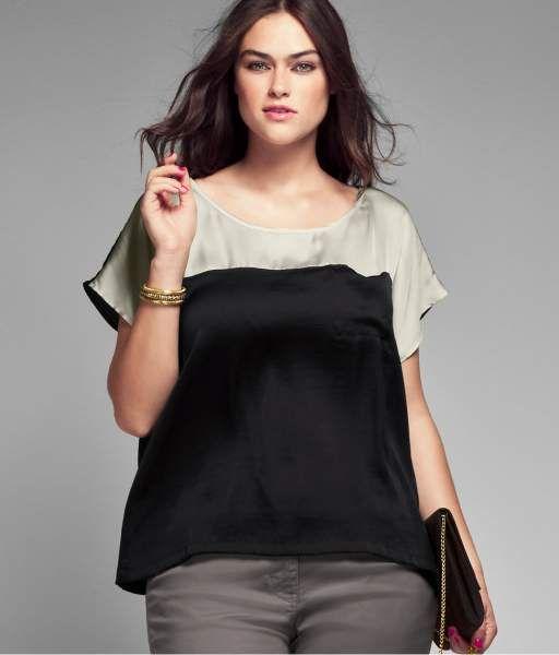 H+ Blusa tallas grandes primavera-verano 2012