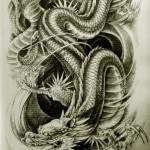 Oriental Dragon Tattoo Style (15)