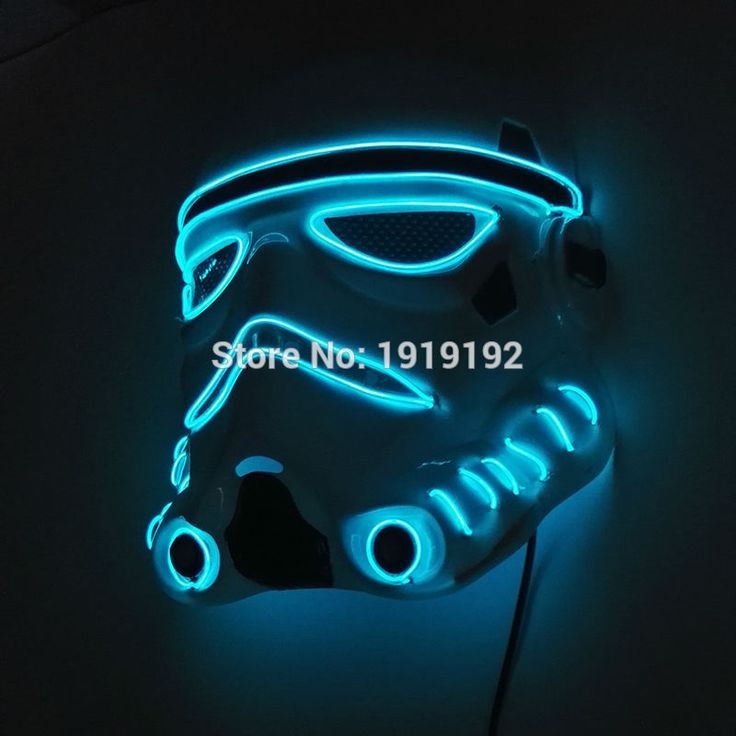 ==> [Free Shipping] Buy Best 2017 Moive of Star Wars EL Flashing mask By DC-3v Sound Active Driver EL wire Rope tube party EL masks Halloween for costume Online with LOWEST Price | 32664894535