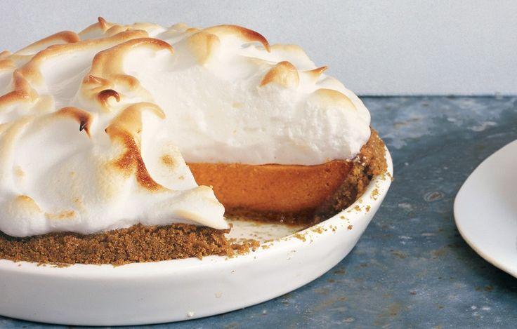 Sweet Potato Pie with Marshmallow Meringue - Bon Appétit.  This is a perfect pie...