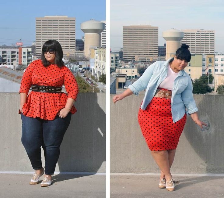 this girl's style is SUPER cute. If she can be so cute, so can I! | The Curvy Girl Guide
