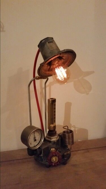 Lamp with working thermometer