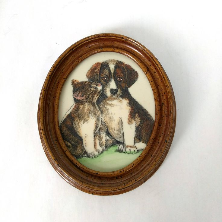 Excited to share the latest addition to my #etsy shop: Marvetti Cultured Ivory Puppy & Kitten Oval Plaque Wood Framed Art Wall Hanging 1970s http://etsy.me/2CdLi4C #housewares #homedecor #brown #kids #framed #beige #marvetti #ivoryplaque #ovalframe