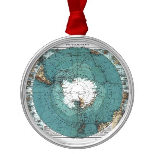 Map of the South Pole Ornament