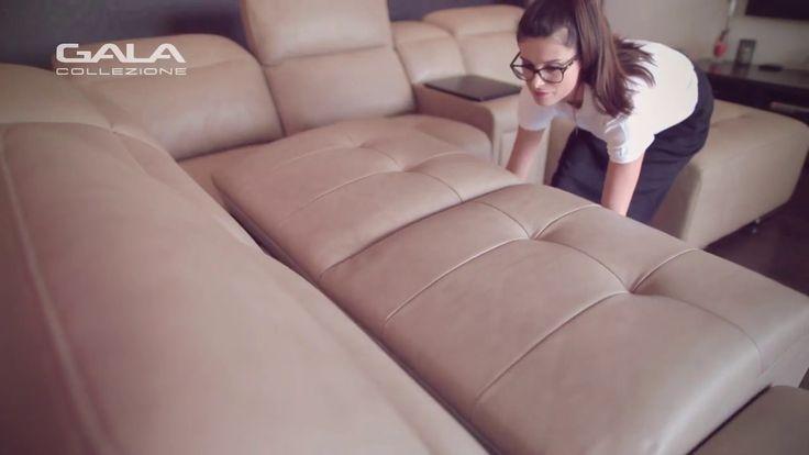 Narożnik dla wymagających? Tak, to właśnie jest Domo - system modułowy, w ramach którego możesz skonfigurować sofę lub narożnik zgodnie z własnymi potrzebami i wzbogacić je o bar z drewnianym blatem i wysuwaną szufladą, funkcję spania, pojemnik na pościel i funkcję relaksu. Ten mebel to gwarancja pięknego designu oraz zaawansowanych funkcji podnoszących komfort wypoczynku.