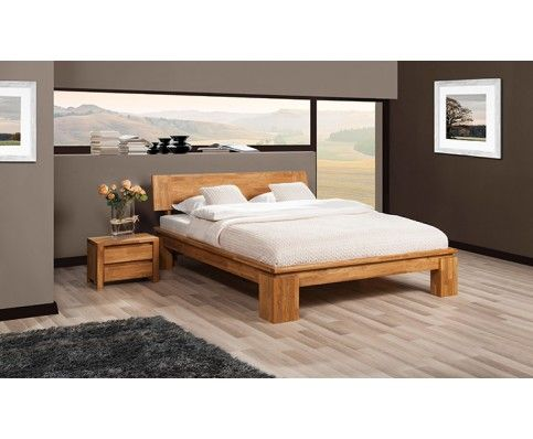 Vinci Contemporary Solid Oak Bed High - With Electric Bed Base Option                                                                                                                                                                                 More
