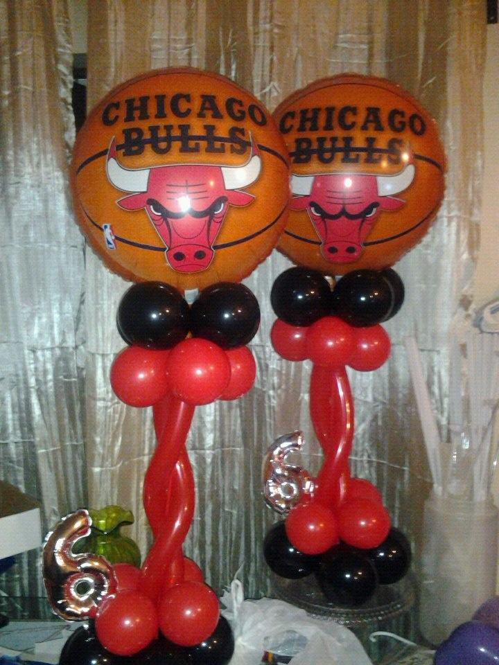 chicago bulls chicago bulls balloons decor pinterest