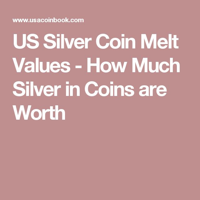 US Silver Coin Melt Values - How Much Silver in Coins are Worth