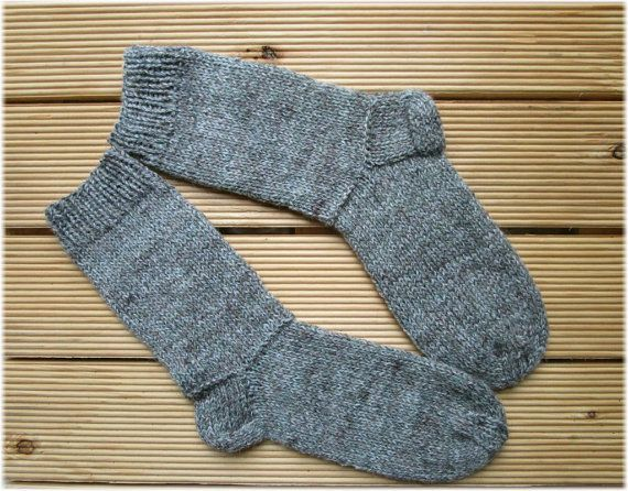 Knit men's socks Hand knit socks Men's knitted socks Woolen knitted socks Handmade socks Warm mens gift for dad brother husband qE6C2